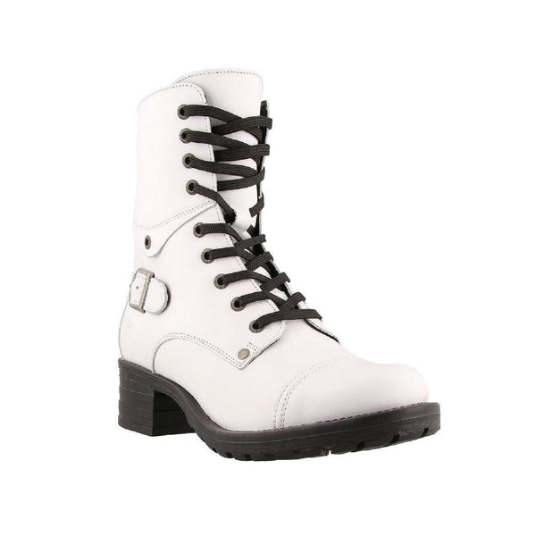 Taos Women's Crave Combat Boot (White)