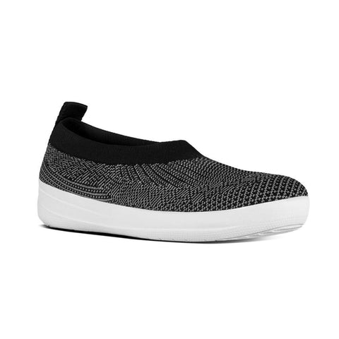 Fitflop  UBERKNIT™ Slip-On Ballet Flats (Black/Charcoal)