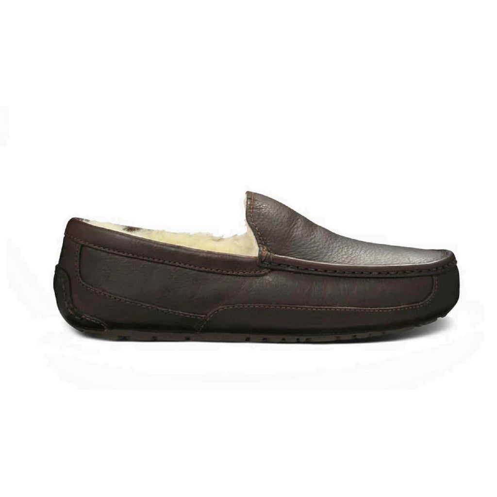 Men's leather ugg slipper in china tea.