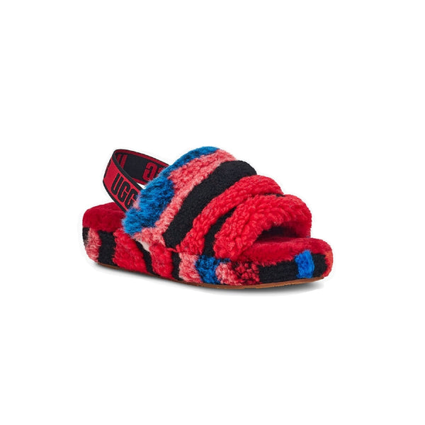 UGG Fluff Yeah Slide Cali Collage (Red)