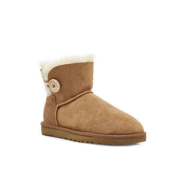UGG Women's Mini Bailey Button II (Chestnut)