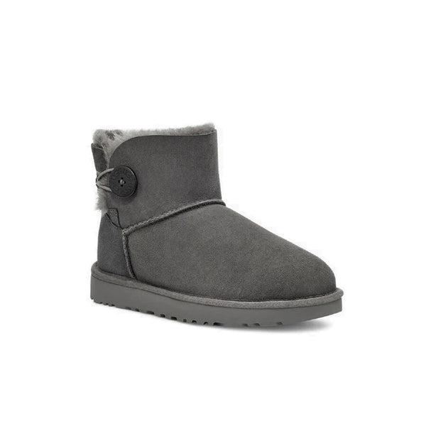 UGG Women's Mini Bailey Button II (Grey)