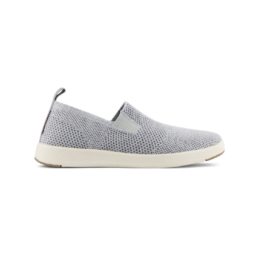 Twin gore slip on made with merino wool upper in grey.