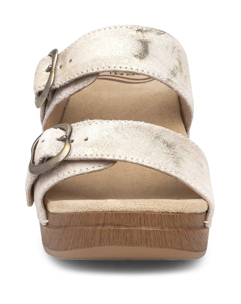 Dansko Sophie (Ivory / Gold Metallic Leather)