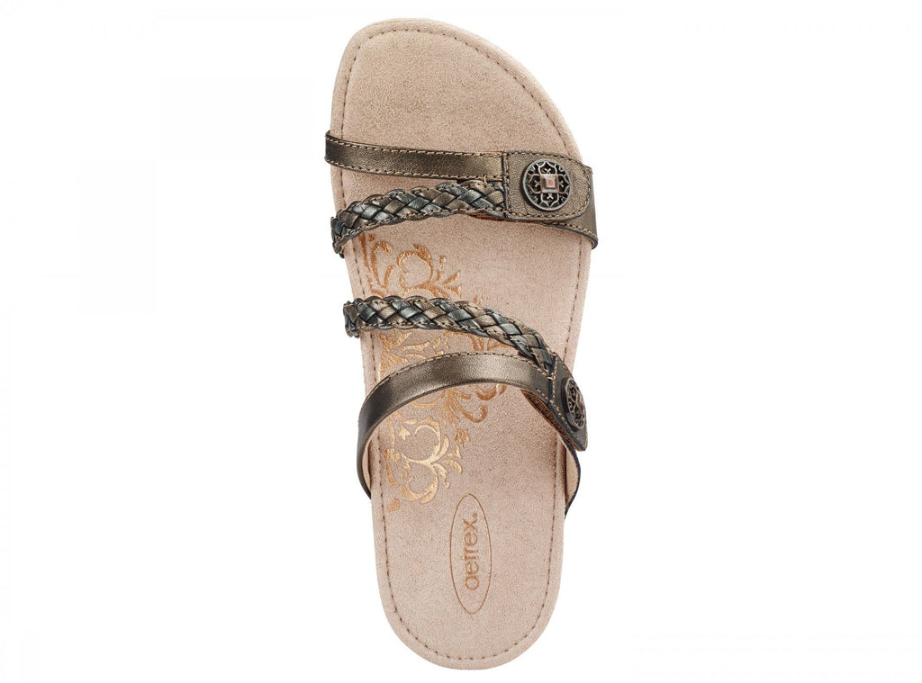 Aetrex Janey Braided Slide (Bronze)