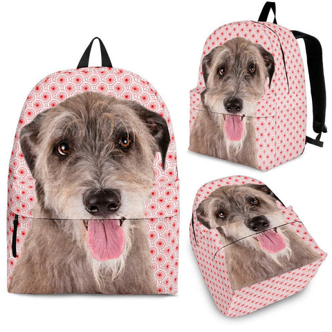 Irish Wolfhound Dog Print Backpack-Express Shipping