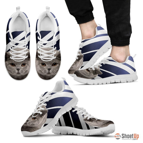 British Shorthair Cat Men Running Shoes - Free Shipping