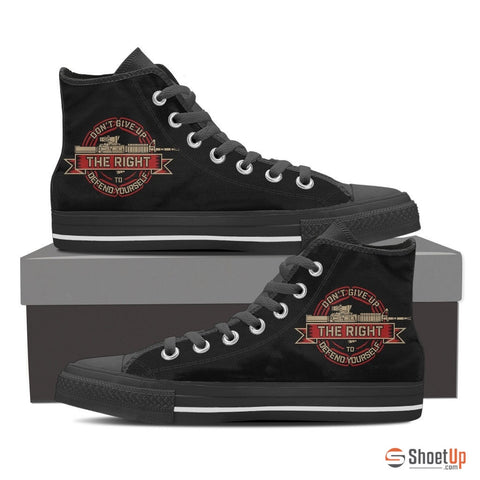 Don't Give Up Your Right To Defend Yourself-Women's Canvas High Tops- Free Shipping