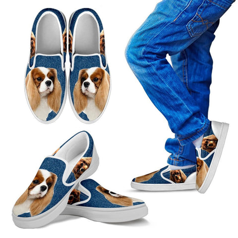 Cavalier King Charles Spaniel Dog KId's Slip On - Free Shipping