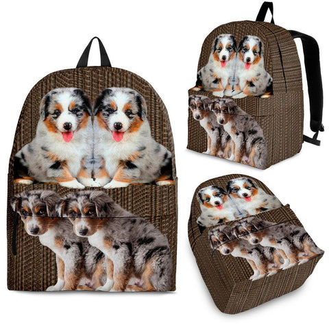 Australian Shepherd Dog Print Back Pack- Free Shipping