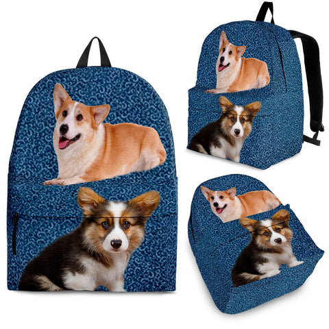 Pembroke Welsh Corgi Print Backpack-Express Shipping