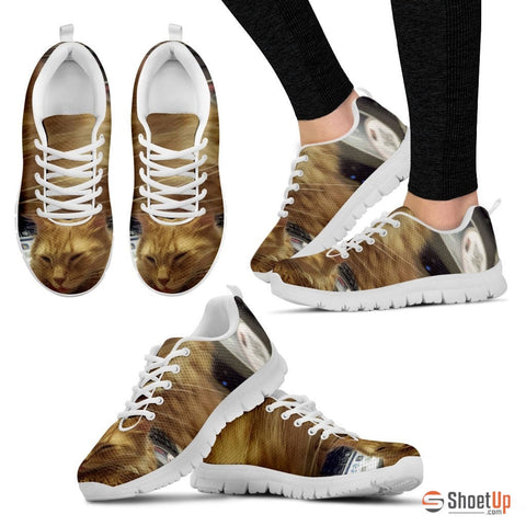 Valerie Leuschen/Cat-Running Shoes-3D Print-Free Shipping