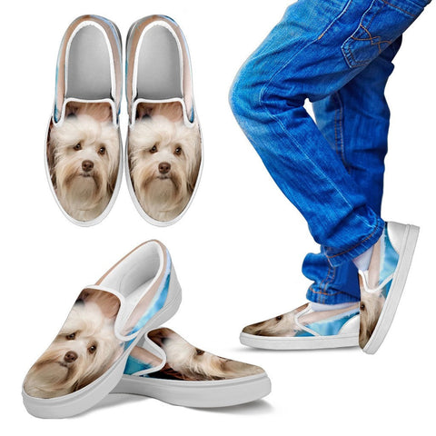 Cute Havanese Kids Slip On - Free Shipping