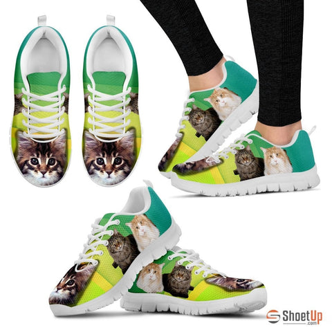 Cute Maine Coon Print Running Shoe For Women- Free Shipping
