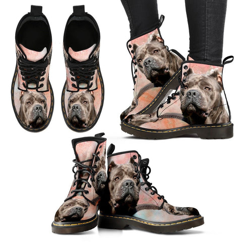 Cane Corso Print Boots For Women-Express Shipping