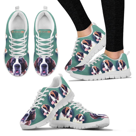 Amazing St. Bernard Dog-Women's Running Shoes-Free Shipping