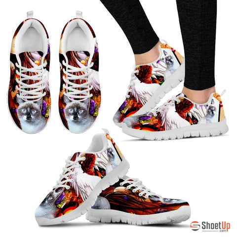 Gerardette McCarthy/ Cat Print Running Shoes - Free Shipping