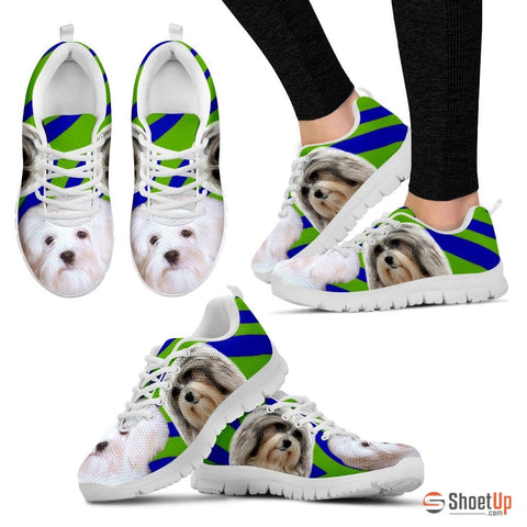 White Lowchen Dog Running Shoes - Free Shipping
