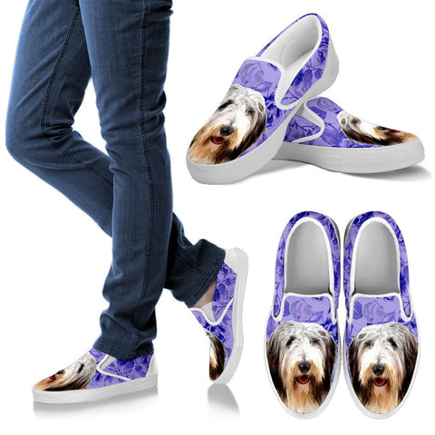 Bearded Collie Dog Print Slip Ons For Women-Express Shipping