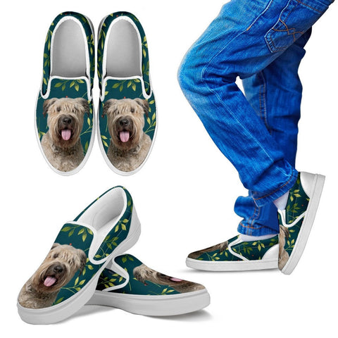 Bouvier des Flandres Dog Kid's Slip Ons For Kids-Express Shipping