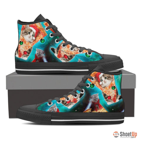 Pizza Cat-Women's Canvas High Tops- Free Shipping