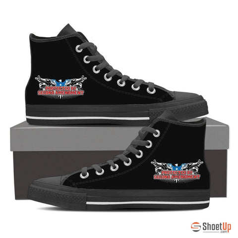 Protected By Second Amendment-Canvas High Tops- Free Shipping
