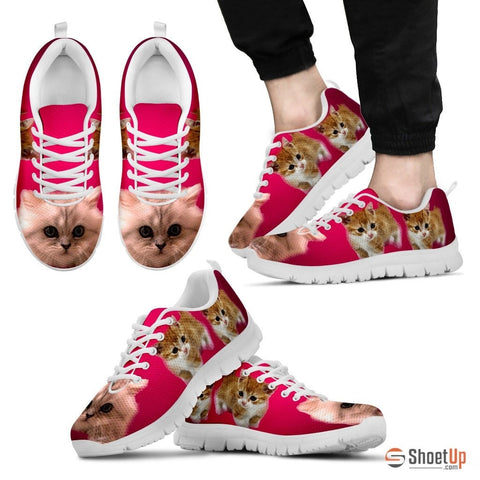 Cute Munchkin Cat Men Running Shoes - Free Shipping