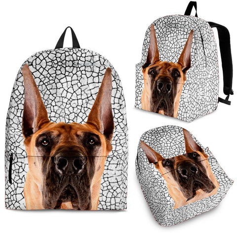 Great Dane Dog Print Backpack-Express Shipping