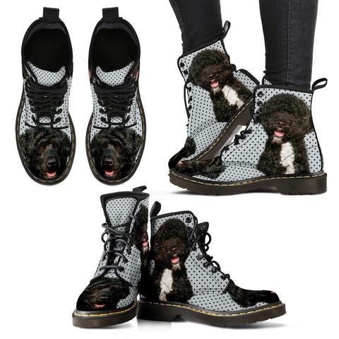 Portuguese Water Dog Print Boots For Women-Express Shipping