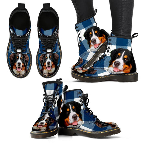 Bernese Mountain Dog Print Boots For Women-Express Shipping