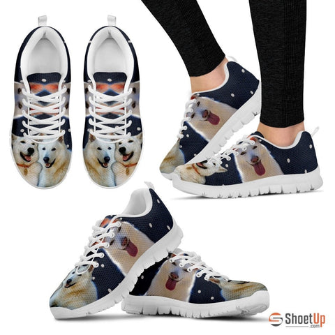 Customized(2093) Dog -(White/Black) Running Shoes - Free Shipping