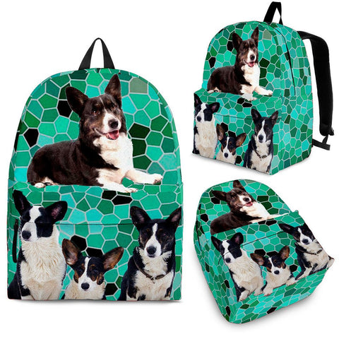 Cardigan Welsh Corgi Dog Print Backpack- Express Shipping