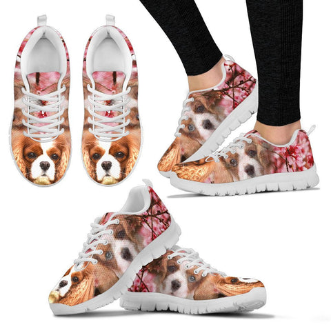 Cavalier King Charles Spaniel Print Sneakers For Women- Free Shipping