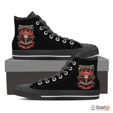 Defend Your Self-Women's  Canvas High Tops- Free Shipping