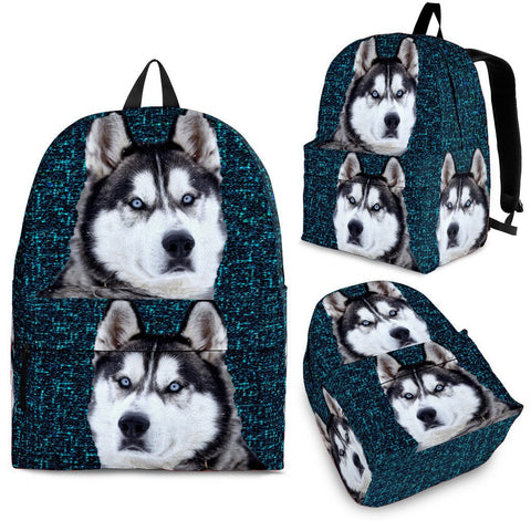 Siberian Husky Dog Print  Back Pack- Free Shipping