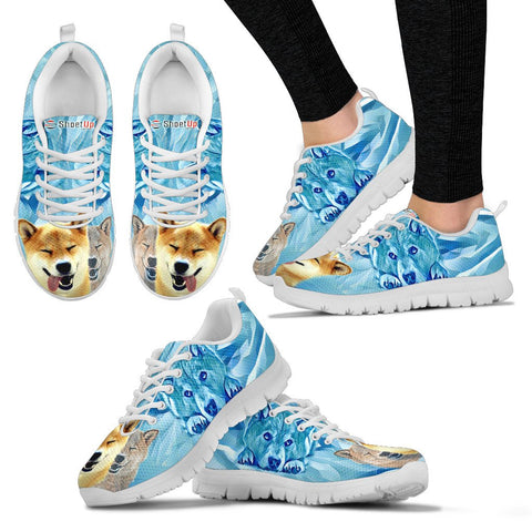 Shiba Inu Print-Women's Running Shoes - Free Shipping