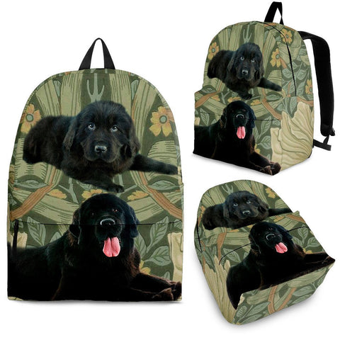 Newfoundland Dog Print Back Pack- Free Shipping