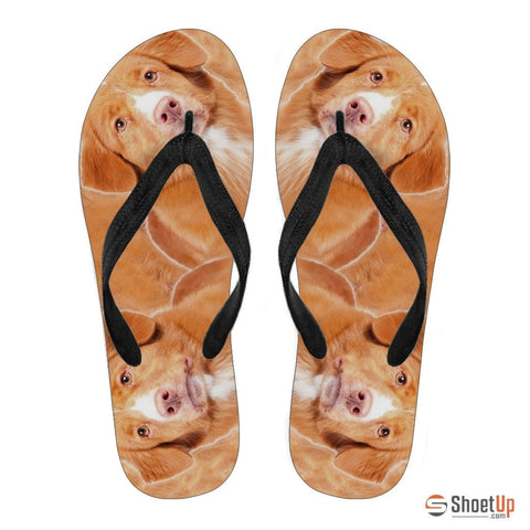 Nova Scotia Duck Tolling Retriever Women Flip Flops - Free Shipping