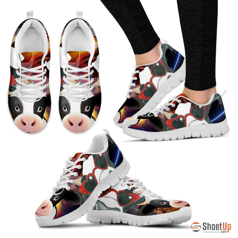 Cow Toon Women Running Shoes - Free Shippingg