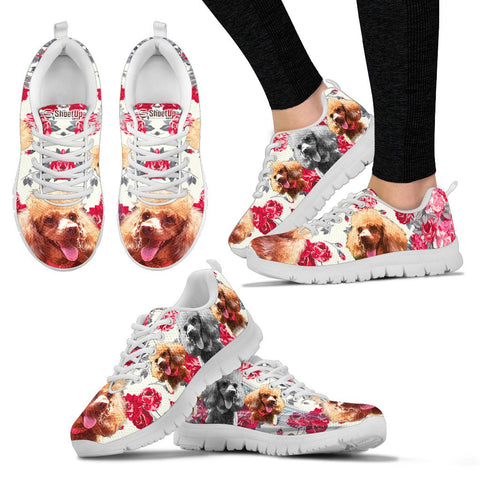 Customized Floral Dog Print Running Shoes - Free Shipping