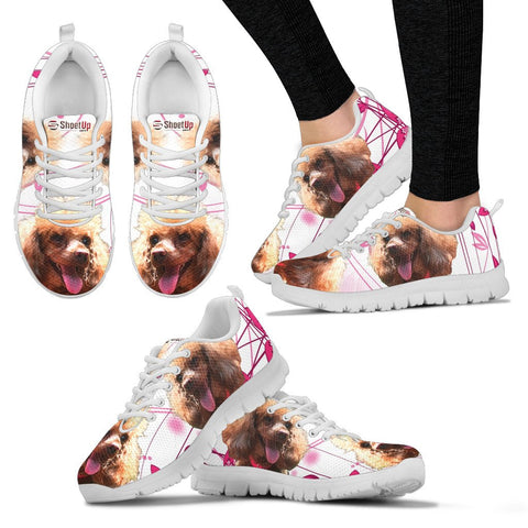Customized Cute Dog Print Running Shoes For Women-Express Shipping- Designed By Lani Chan
