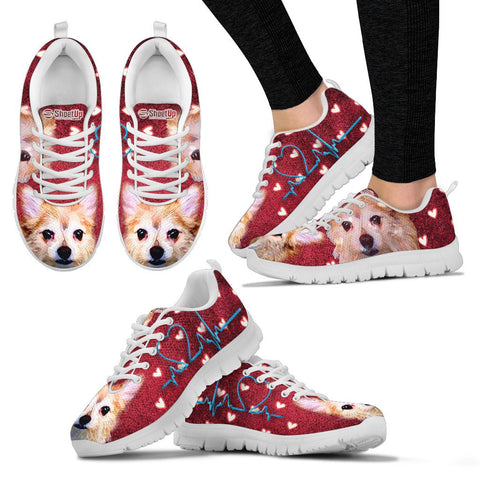 Cartoonize Cute Dog Print Running Shoes For Women-Express Shipping- Designed By Richard