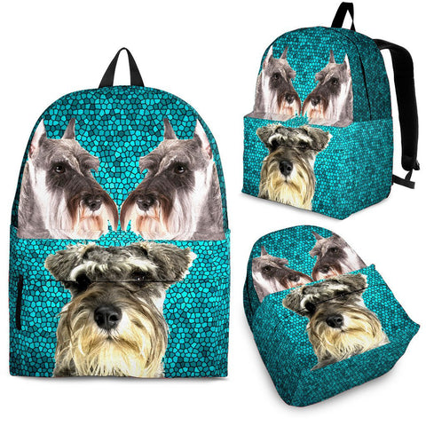 Miniature Schnauzer Dog Print Back Pack- Free Shipping