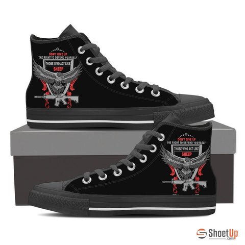 Right to Defend Yourself - Men's Canvas High Tops- Free Shipping