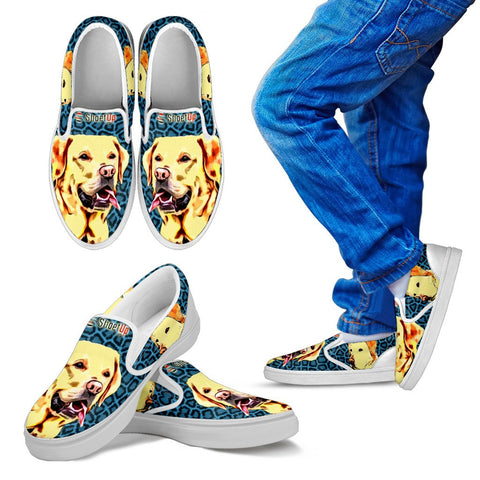 Cartoonize Labrador KId's Slip On - Free Shipping