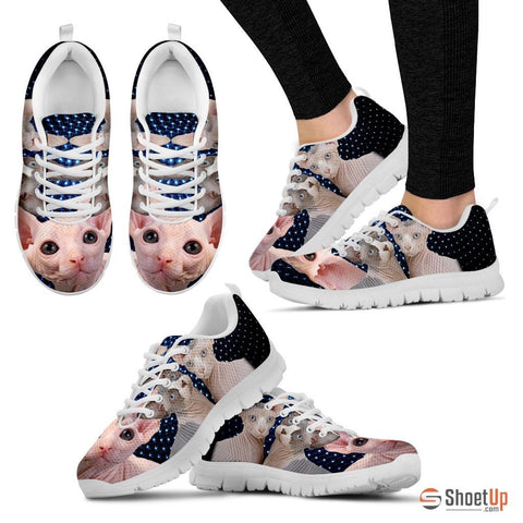 Sphynx Cat Print Running Shoes For Women-Free Shipping
