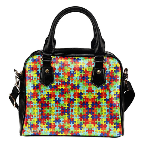 Autism Symbol Shoulder Tote Bag- Free Shipping