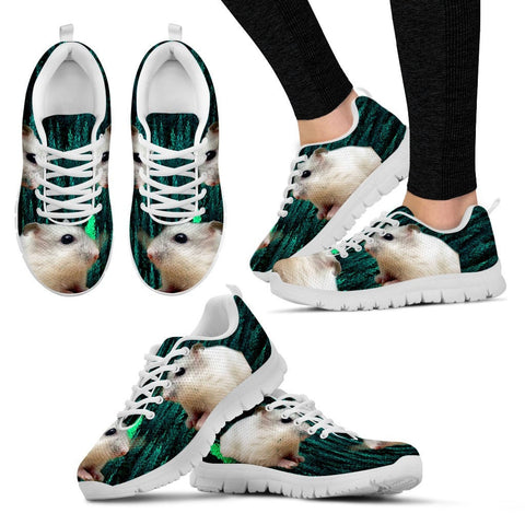 Dwarf Hamster Printed (White) Running Shoes - Free Shipping
