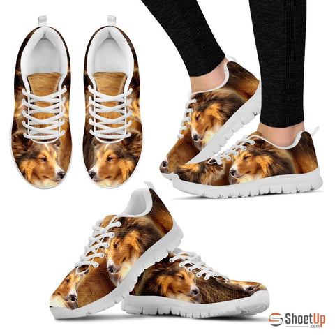 Customized Dog Print (Black/White) Running Shoes-Free Shipping