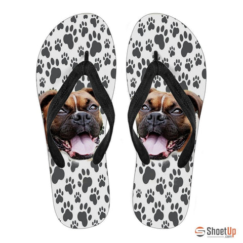 Boxer Print Flip Flops For Men-Free Shipping Limited Edition